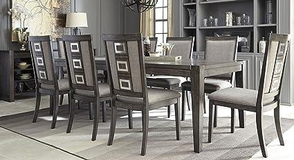 Signature Design By Ashley Chadoni Gray Rectangular Extendable Dining Room  Set