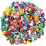 BAODE 100pcs Random Different Shoe Charms for Clog Shoe & Bracelet Wristband Party Gifts