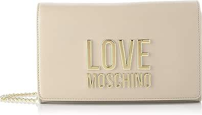 Love Moschino Precollezione Ss21   Borsa A Spalla Da Donna, Bandolera para Mujer, Negro, Talla única