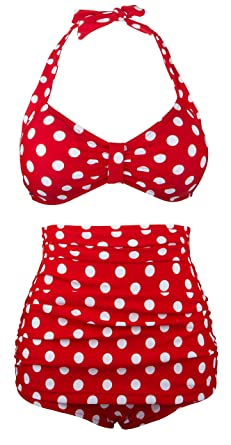 e27529fe72 Angerella Cute Bikini Swimwear Two Piece Bathing Suits (BKI030-R1-4XL)   Amazon.co.uk  Clothing