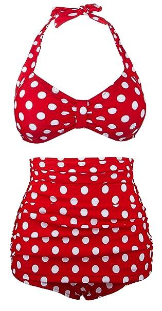 68be7a35dad36 Angerella Cute Bikini Swimwear Two Piece Bathing Suits (BKI030-R1-4XL):  Amazon.co.uk: Clothing