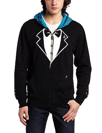 39c9da11c2 Amazon.com: Volcom Men's One Eyed Monster Full Zip Sweatshirt, Black ...