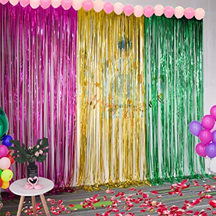 Buy XuBaTassel Curtain for Photography Background Birthday