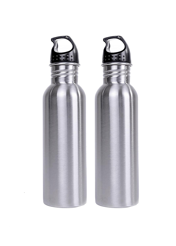 SAANVI Creationsステンレスsteel-wide口水ボトルBPA free-750ml容量漏れ防止の2つのセット B073XK2ZLD