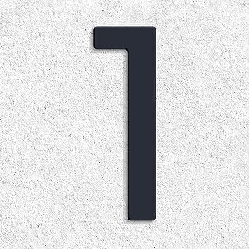 Moderne Hausnummern thorwa design edelstahl hausnummer 1 modern avant garde stil
