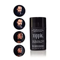 Toppik Hair building Fibers, Applicatore spray con fibre di cheratina naturali, Nero, 12 gr