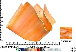 product image for Jezebel Radiance JRAVA-FP16-TAG Glass Vase Lamp, Tangerine