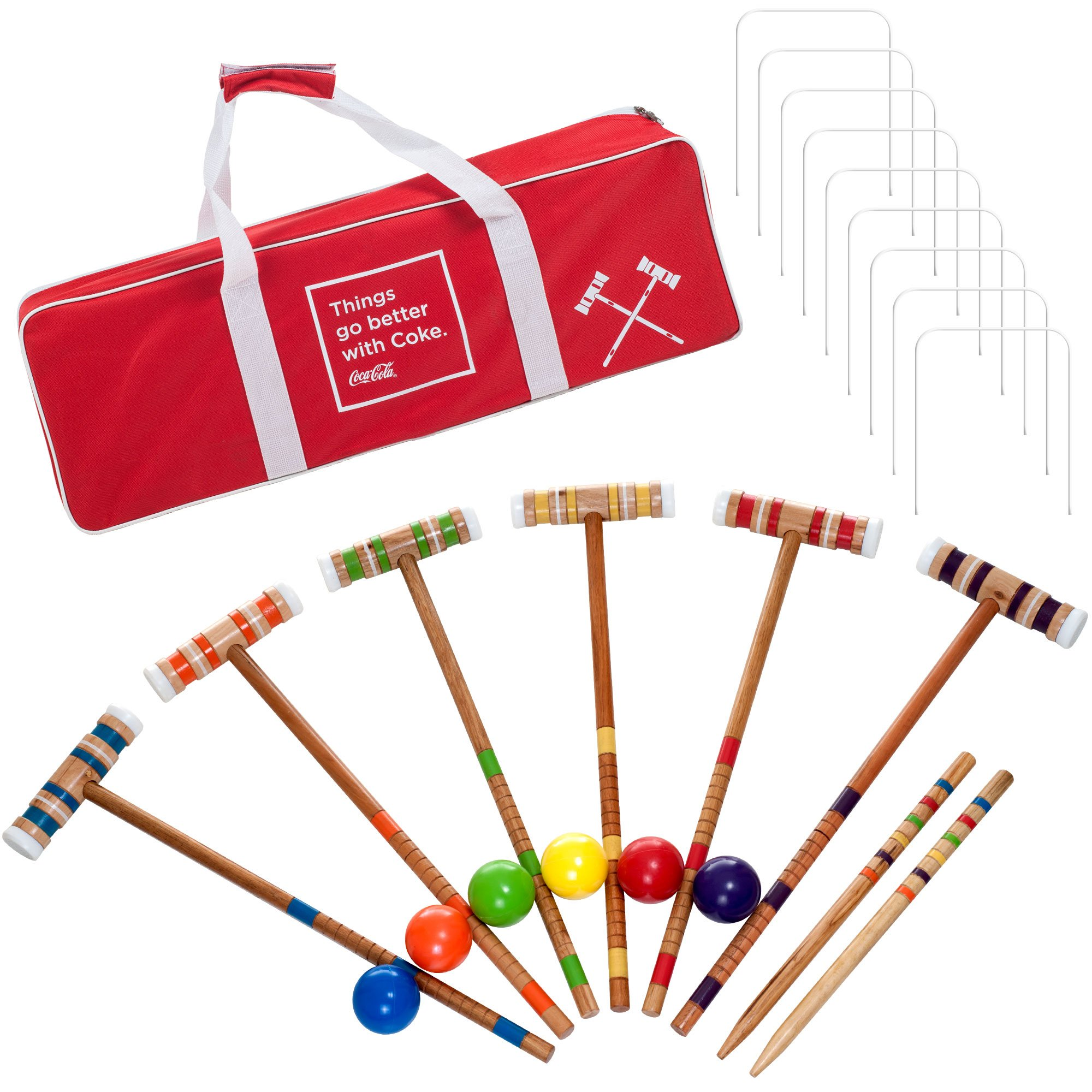Coca Cola 24 Piece 6 Player Croquet Set - Complete Game with Carrying Case by Coca-Cola (Image #1)