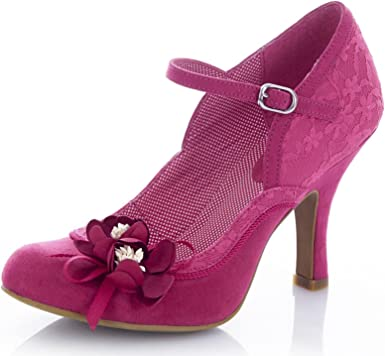 Amazon.com  Ruby Shoo Women s Fuchsia Pink Silvia Mary Jane Pumps UK ... 9c6e5fd1f