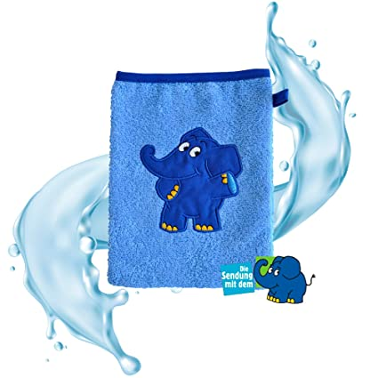 Playshoes 340095 Frottee-Waschhandschuh Elefant