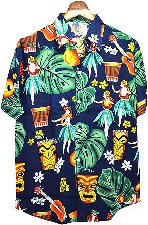 GL BOUTIK Camisa Hawaiana - Manga Corta - Estampado Floral ...