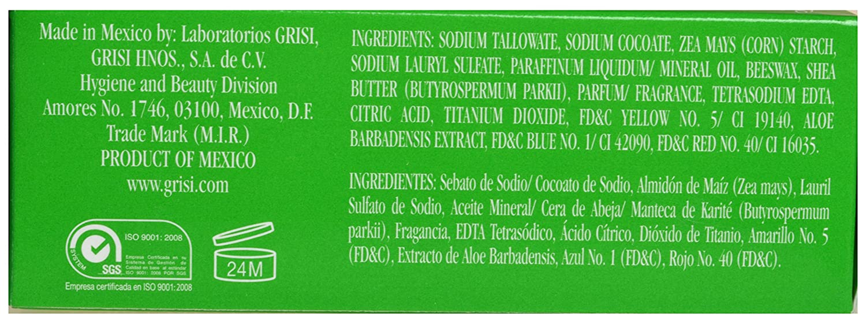 Amazon.com : 3 Pack Grisi Moisturizing Clean Aloe Vera Soap / Paquete de 3 pastillas de Aloe Vera hidratante hidratante Grisi : Beauty