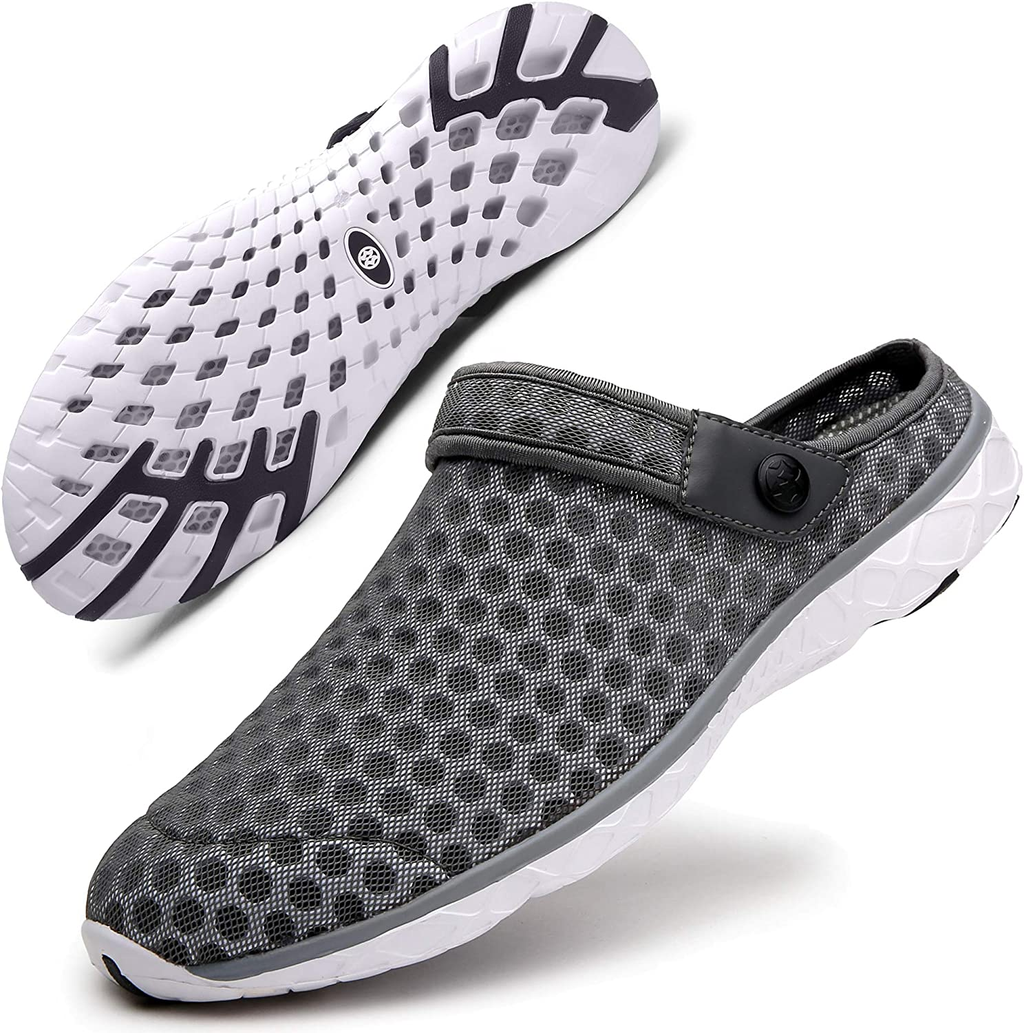 Mens Womens Summer Clogs Slippers Sandals Garden Shoes Breathable Mesh Beach Walking Slippers Shoes Size