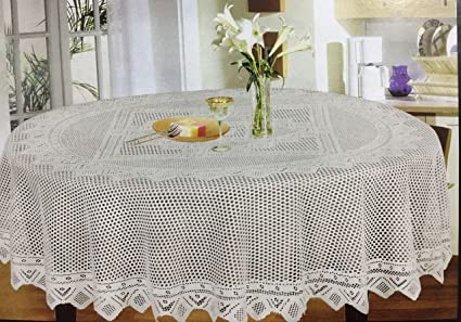 Style Your Home 60u0026quot; Inch Round Dining Table Cover(152 ...