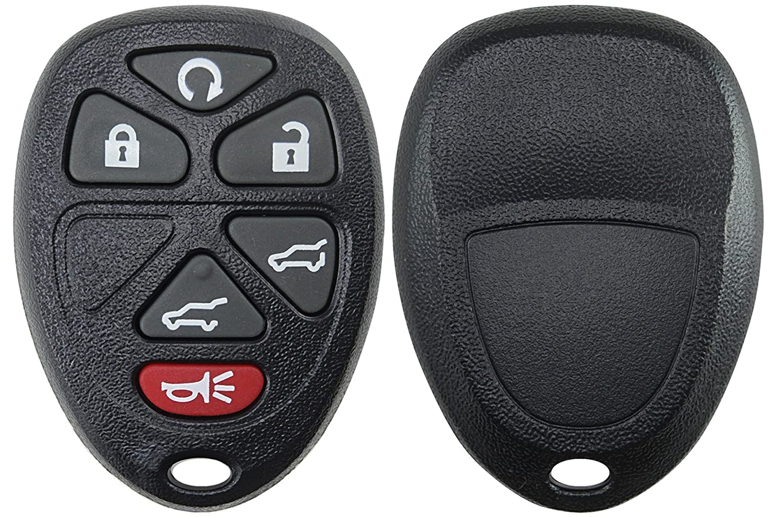 KeylessOption Replacement 6 Button Keyless Entry Remote Key Fob Shell Case and Button Pad Compatible with OUC60270 KPT2721