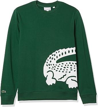 Lacoste Mens Sport Crewneck Graphic Sweatshirt