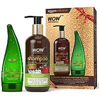 Wow Apple Cider Vinegar Shampoo, 300ml with 99% Pure Aloe Vera Gel, 130ml