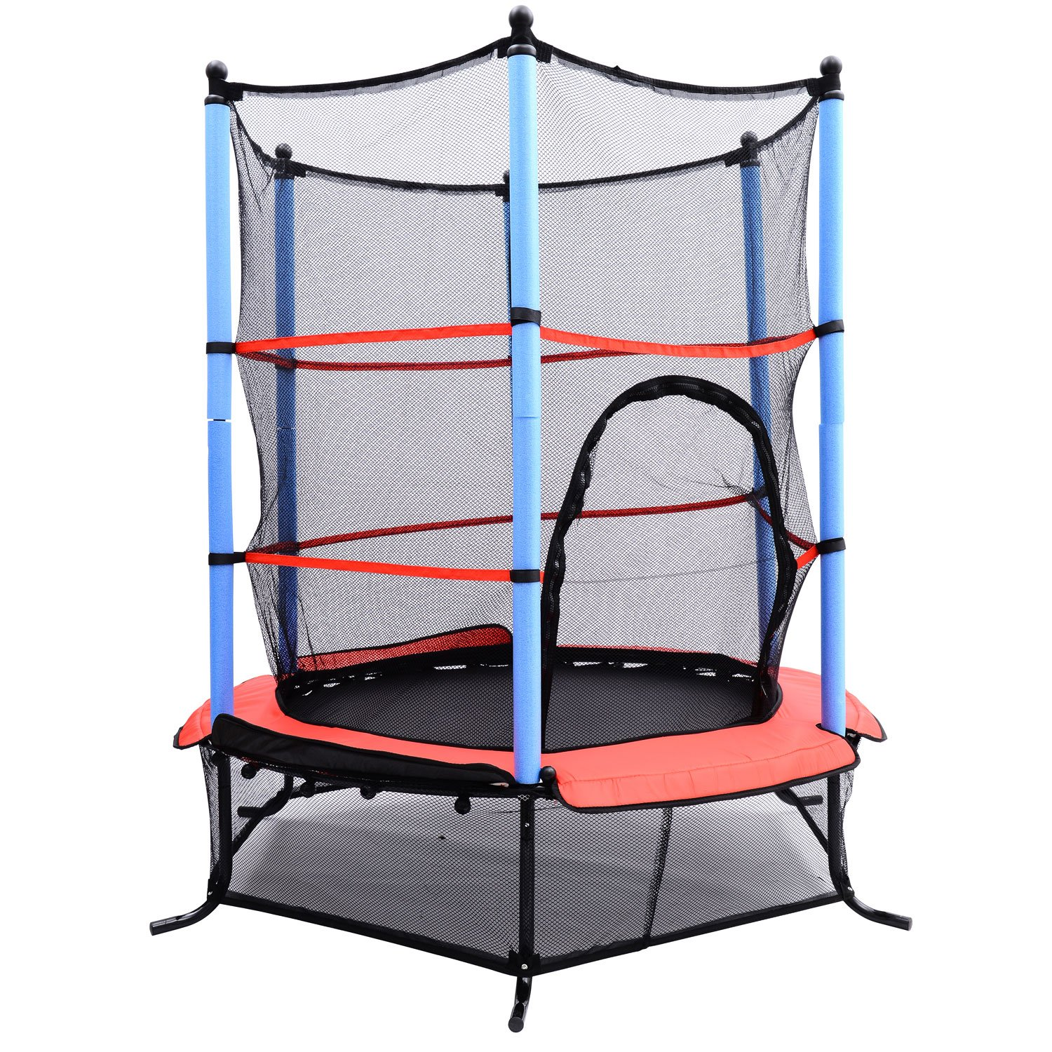 Aosom 55 Inch Children s Trampoline with Safety Enclosure Net All