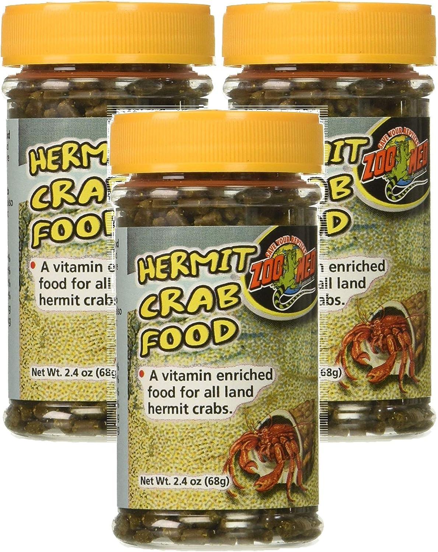 (3 Pack) Zoo Med Hermit Crab Food - 2.4Oz Each