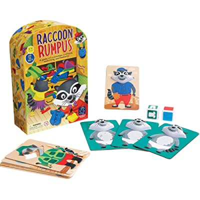 Educational Insights Raccoon Rumpus Game, Dice Rolling Color Matching Preschool Game, Ages 3+: Toys & Games