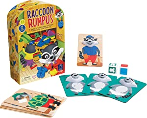 Educational Insights Raccoon Rumpus Game, Dice Rolling Color Matching Preschool Game, Ages 3+