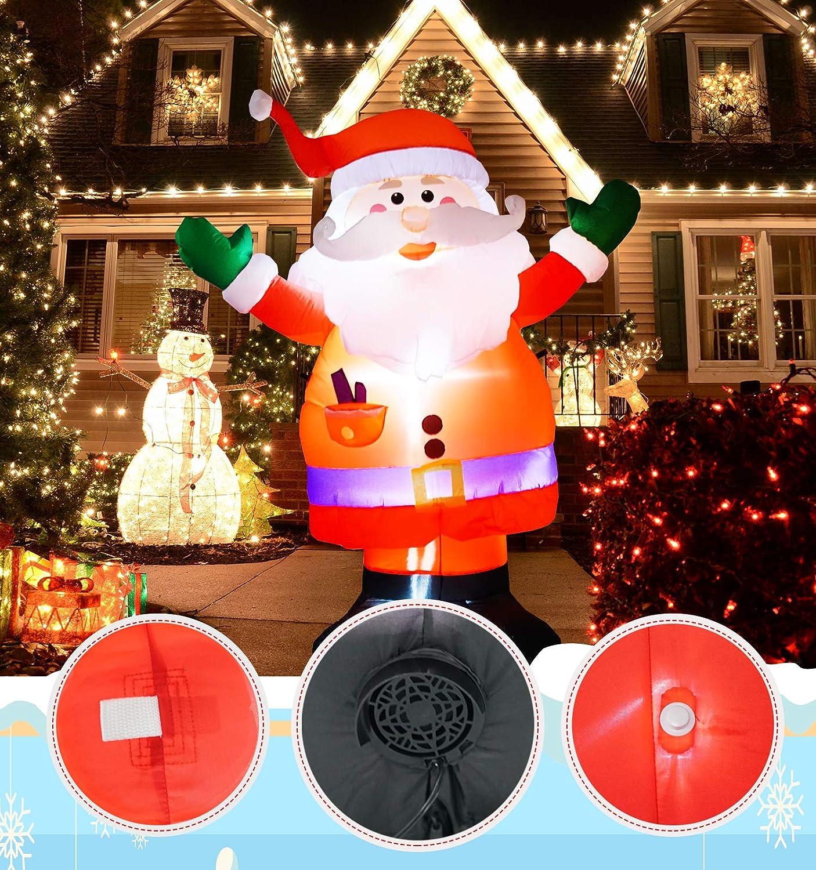 Decorazioni gonfiabili natalizie enormi da 1,8 m Decorazioni per la casa da giardino portatile interno ed esterno Blow Up Blow Up