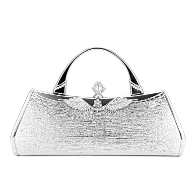 b401cfda69 ULG Women's Evening Shoulder Wristlet Dinner Bag Luxury Bling Rhinestone  Crossbody Handbag Chain Clutch Purse for Wedding Party 10