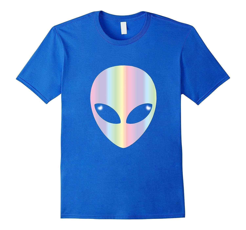 Alien Head T Shirt-Holographic Glow Effect-CL