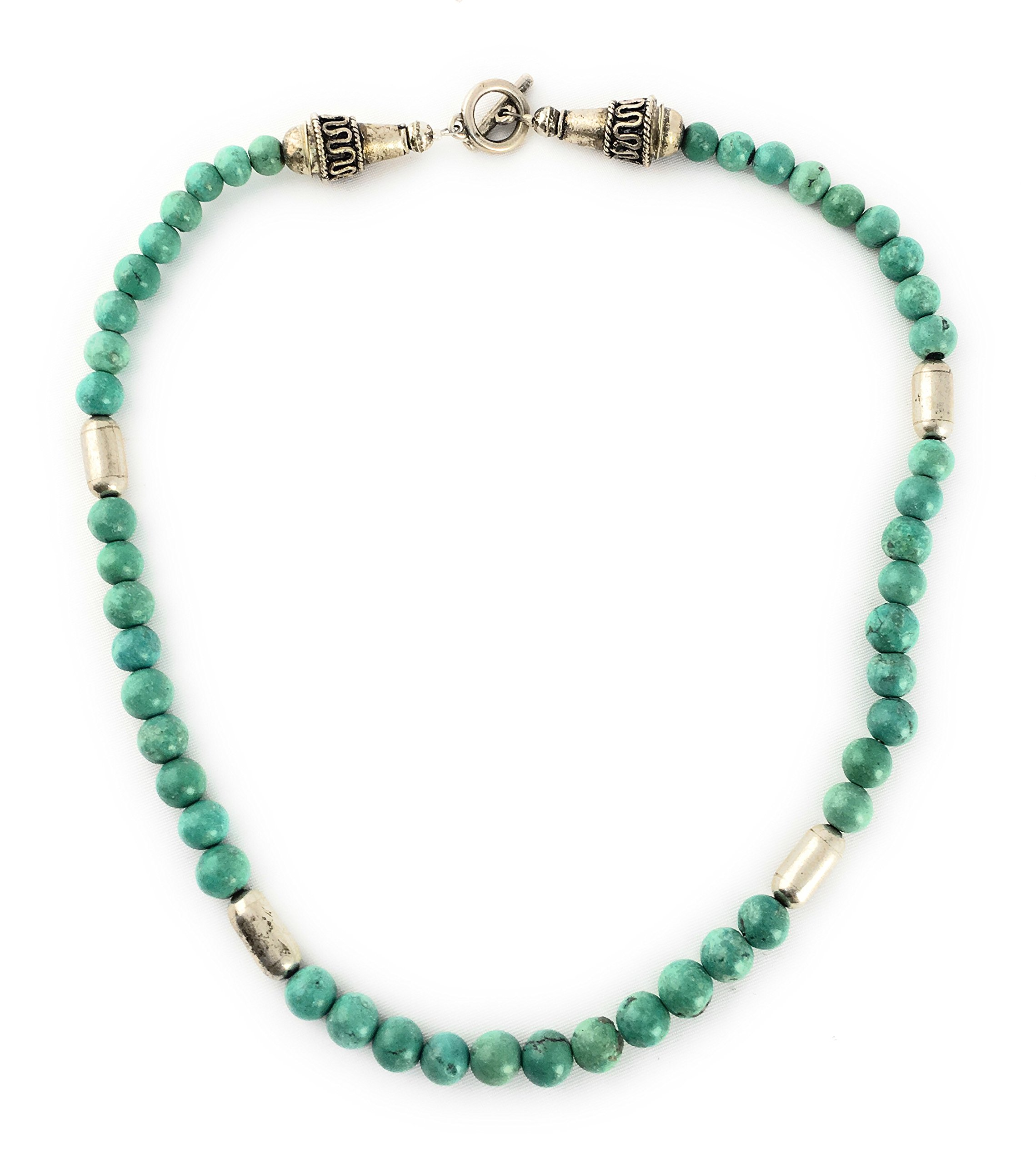 Masha Storewide Sale ! Sterling Silver Necklace By Turquoise, Made in USA - Exclusive Southwestern Handmade Jewelry, Gift by Masha (Image #1)