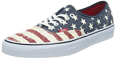 Vans Authentic (Americana) Dress Blues Skateboard Shoes-Men 5.0, Women 6.5