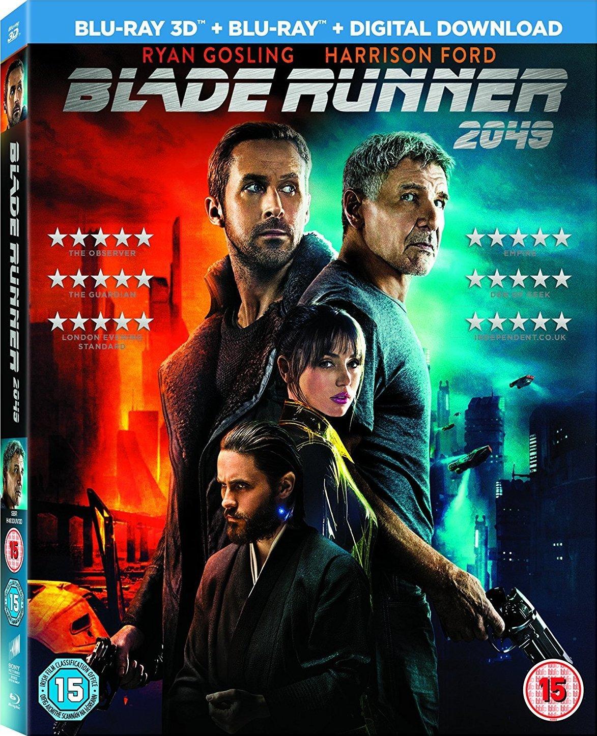 Blade Runner 2049 Blu Ray 3d Blu Ray Harrison Ford Ryan Gosling Denis Villeneuve Ridley Scott Movies Tv