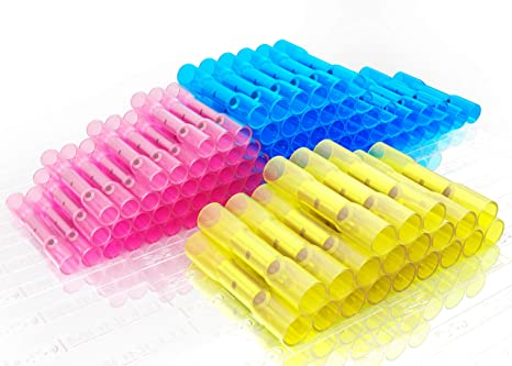 Amazon.in: Buy MONOLIT 100 PCS Heat Shrink Butt Connectors Kit Insulated  Waterproof Marine Automotive Grade Terminal Set Electrical Wire Crimp  Connector Assortment 10-22 AWG Online at Low Prices in India | Reviews
