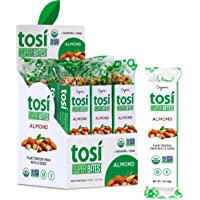 Tosi Organic SuperBites Vegan Snacks, Gluten Free, Omega 3s, Healthy Plant Protein Bars with Flax and Chia Seeds (Almond…