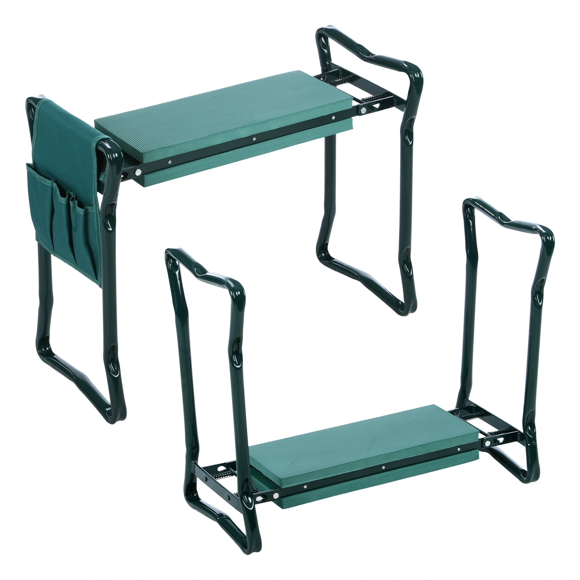 Flagup Garden Kneeler and Seat Bench, EVA Foam Pad, Sturdy and Lightweight Foldable Stool with 1 Side Tool Pouch