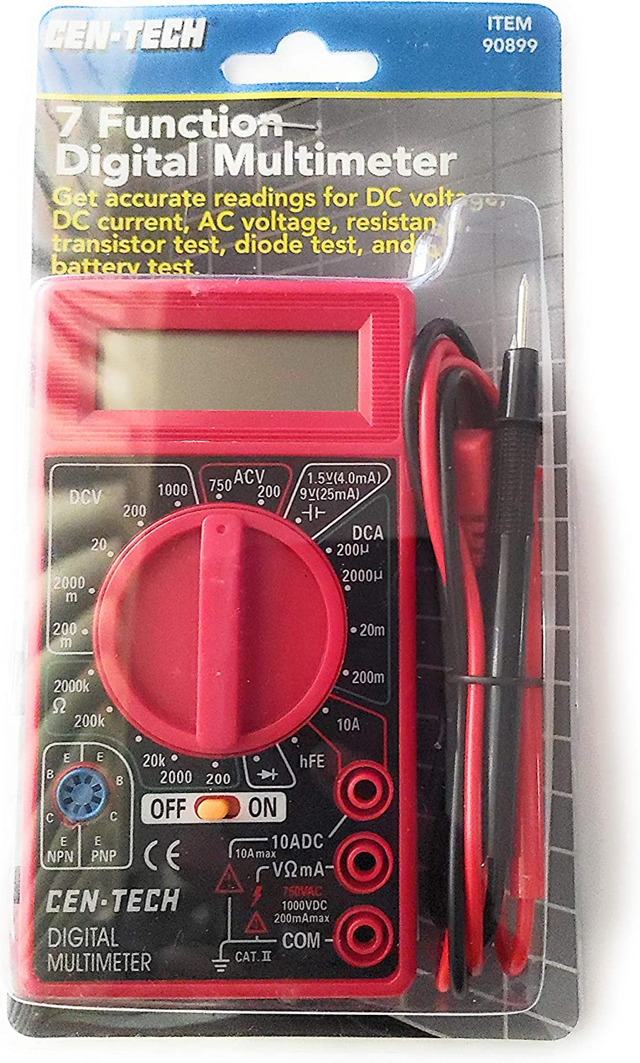 Power Tester Digital Multimeter Voltage Current Meter Black or White 0-99 hours