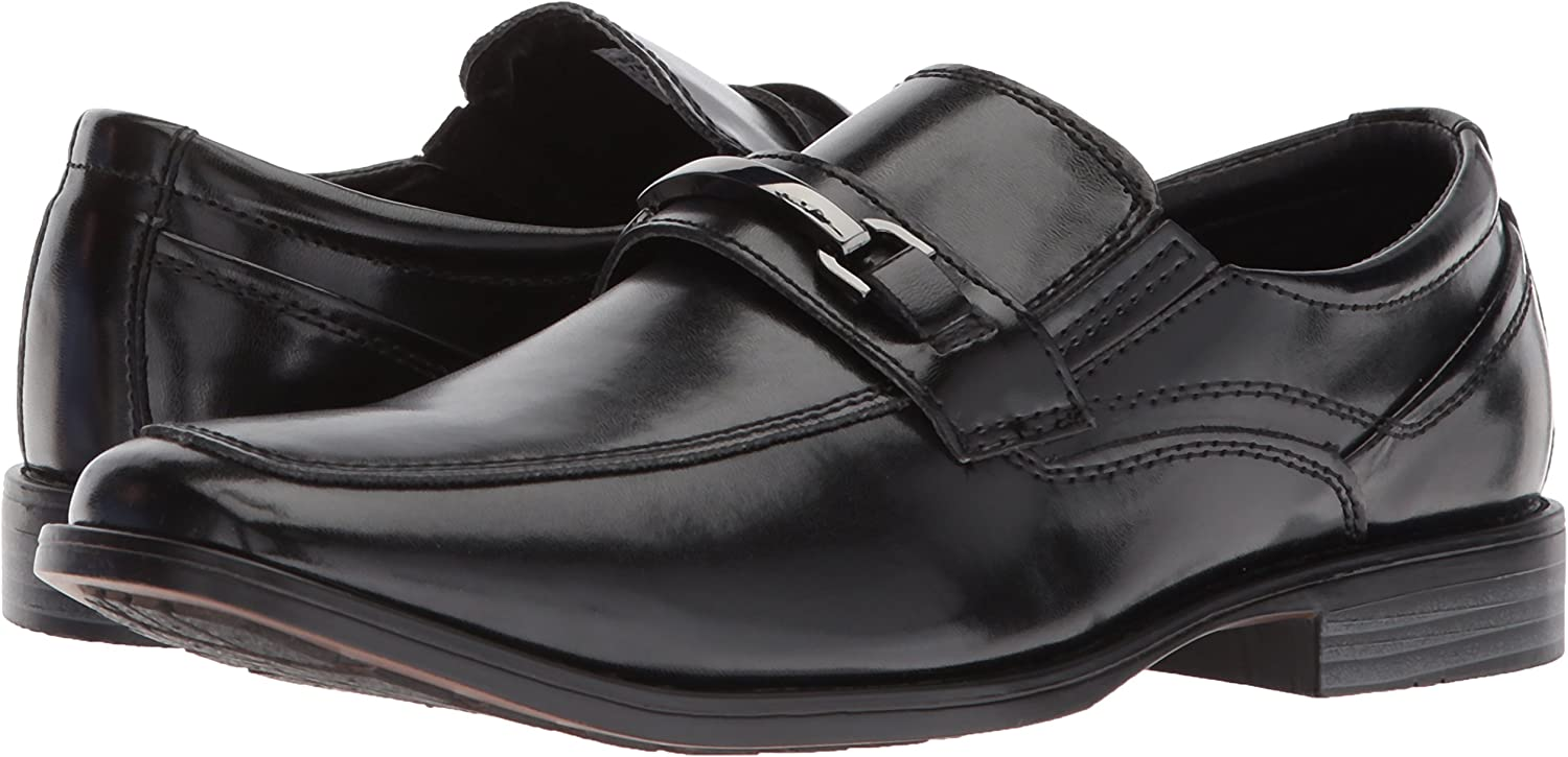 Stacy Adams Danton Youth Boys Black Slip On Comfort Dress Shoes
