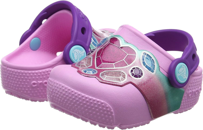 Crocs Kids Fun Lab Light-up Girls Graphic Clog