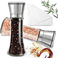 Manual Pepper Grinder Salt Pepper Spices Mill Shaker Transparent Grinding Tool Milling Ceramic Cutter Spice Jar Kitchen…