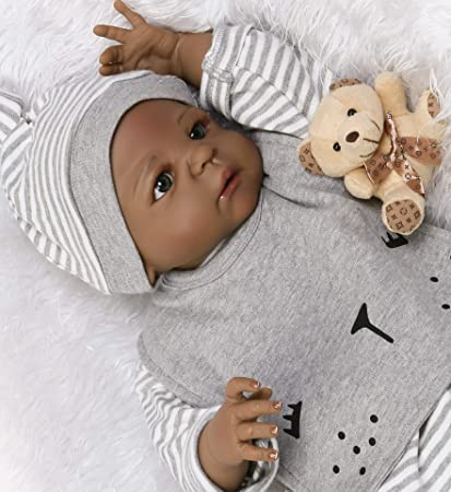 22 inches Full Body Silicone Vinyl Reborn Doll Lifelike Anatomically Correct Boy