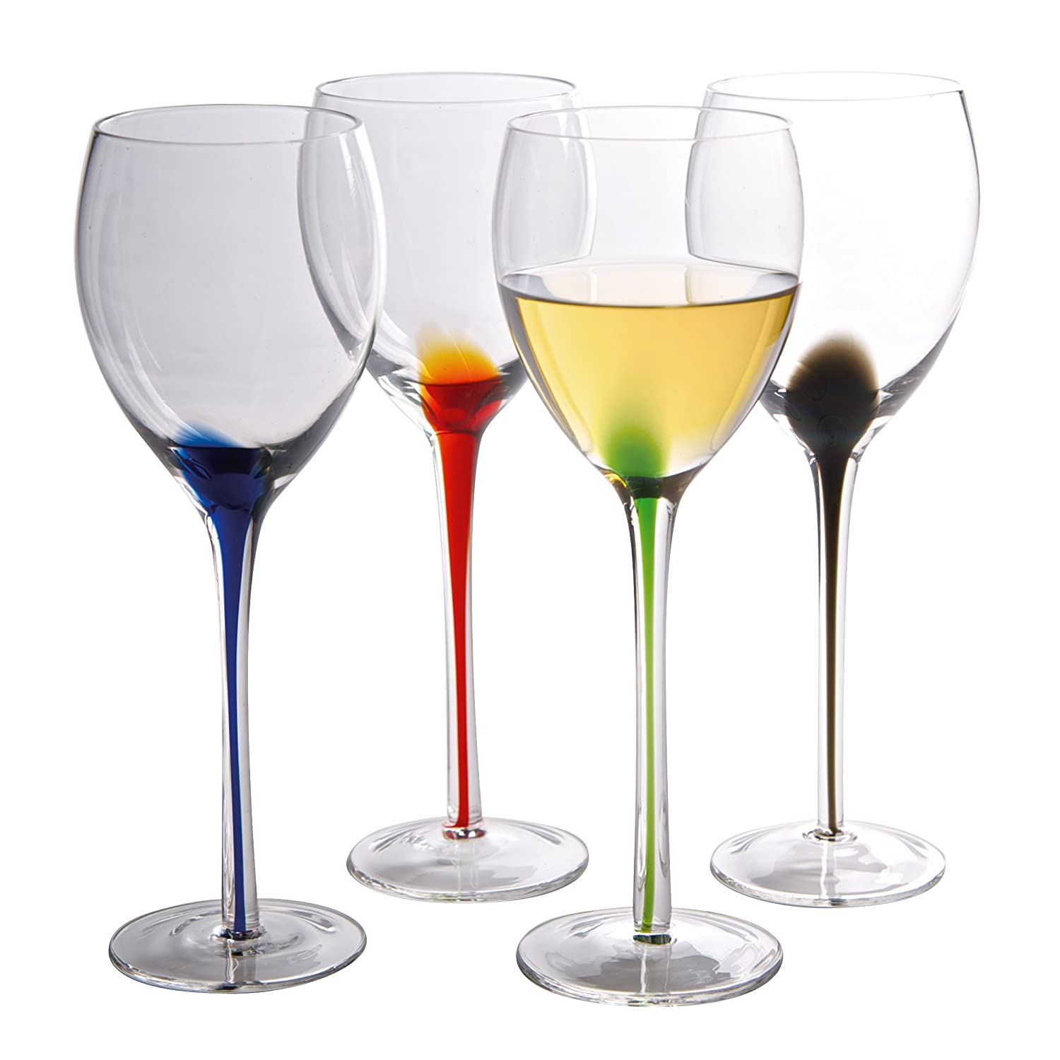 Artland® - The Splash Collection - Wine Glasses, Set of 4, Multi-Colour 60900