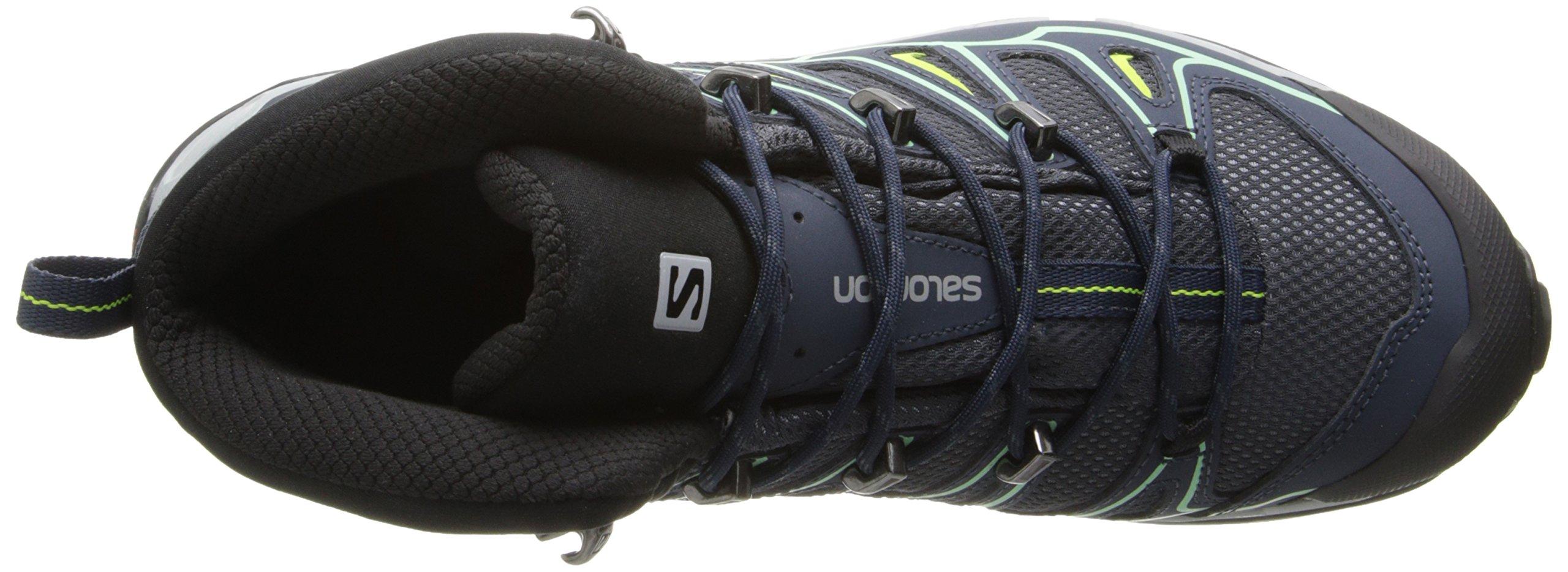 Salomon Women's X Ultra Mid 2 GTX Hiking Shoe, Grey Denim/Deep Blue/Lucite Green, 9 M US by Salomon (Image #8)