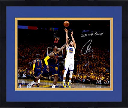 17f9a4965 Framed Stephen Curry Golden State Warriors Autographed 16 quot  x 20 quot   2015 NBA Finals Action