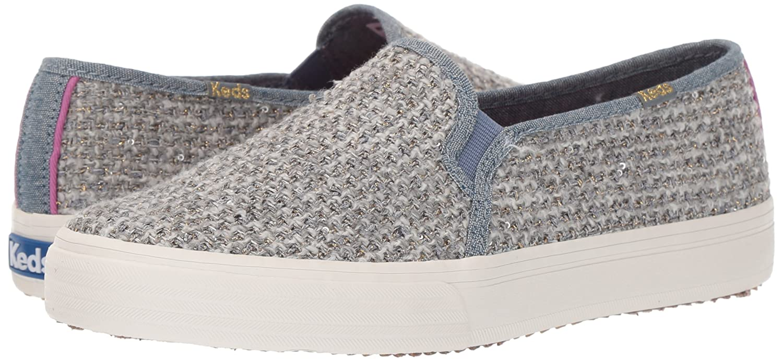 Keds Women's Double Sneaker Decker Sequin Knit Fashion Sneaker Double B071RW2QZH 7 B(M) US Gray 82e4db