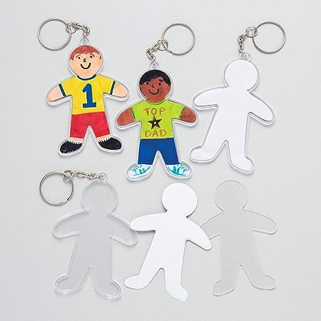 Baker Ross Kit para Diseñar Llaveros en Forma de Personas Perfectos como Regalo Personalizado Kits de Artesanía para Niños (Pack de 6): Amazon.es: Hogar