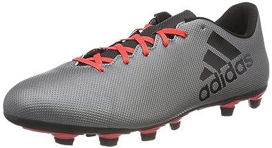 adidas Herren X 17.4 Fxg Fußballschuhe, Mehrfarbig (FTWR White/Energy Blue/Clear Grey), 43 1/3 EU