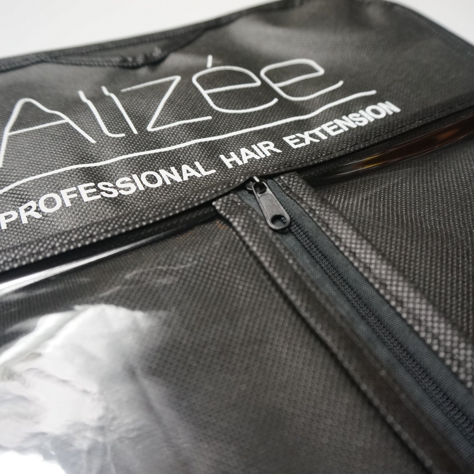 Alizée Professional Hair Extension Carrier Nonwoven Suit Case Bag With Black Wooden Hanger For Wigs & Hair Bundles & Clip in Hair Extensions Organizer Storage Box