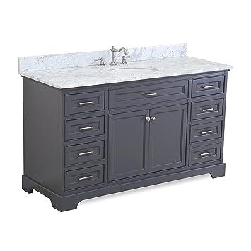 aria 60inch single bathroom vanity gray includes a