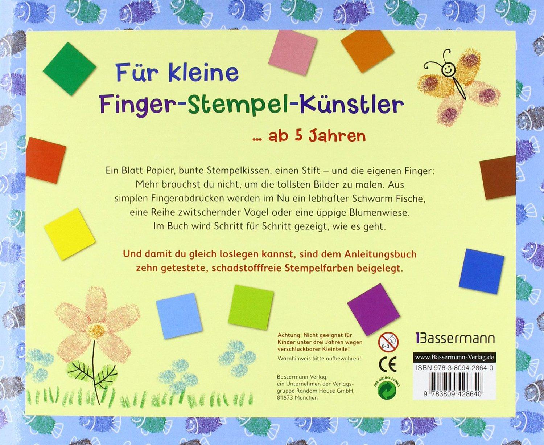Finger Stempeln für kleine Künstler Set Buch und 10 Stempelkissen Amazon Norbert Pautner Bücher