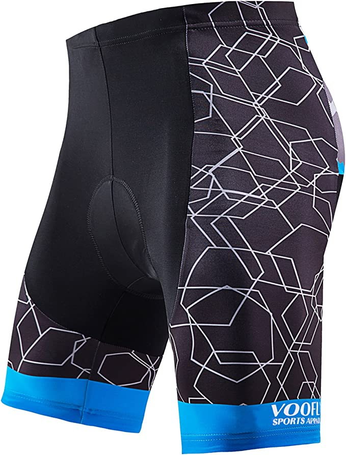 Men Cycling Shorts Rose Bicycle Cycling Comfortable Underwear Gel Padded 3D G8X7