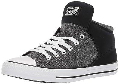 6d3b4319767 Converse Men's Unisex Chuck Taylor All Star Street High Top Sneaker,  White/Black,
